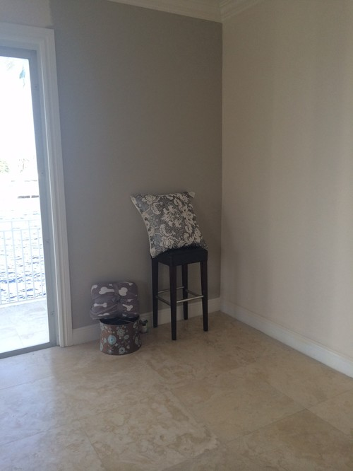 Saturnia Marble Flooring : Can this revere pewter go with these saturnia marble floors