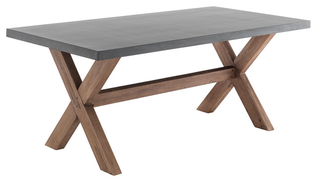 Tadao Concrete and Wood Dining Table