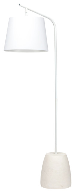 Floyd Floor Lamp With Fabric Shade, White.