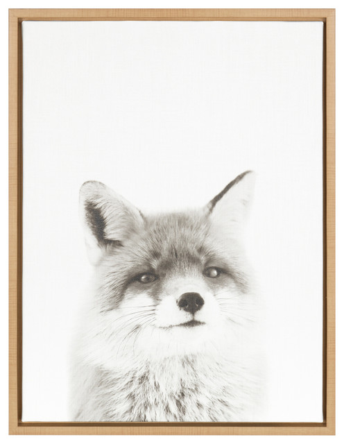 88168e3fc06 Sylvie Fox Portrait Natural Framed Canvas Wall Art by Simon Te Tai -  Contemporary - Prints And Posters - by Uniek Inc.