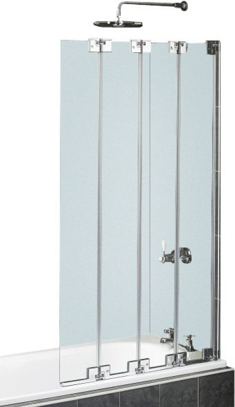 Pacific Aqua Line 4 Fold Bath Screen Door Contemporary Shower