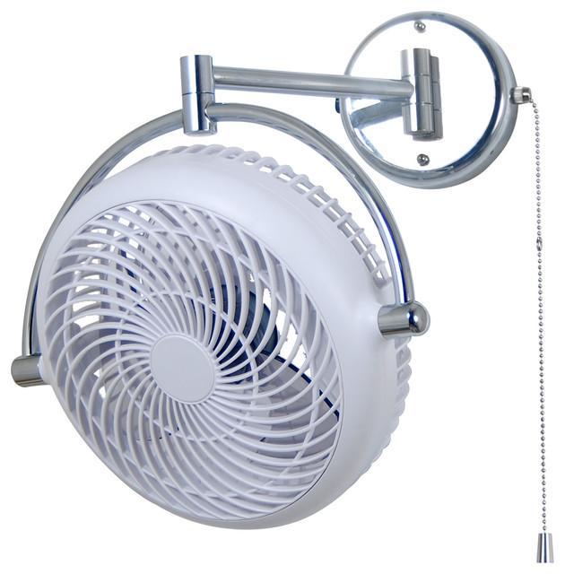 Swivel Fan with Folding Arm White ALASKA VIVI 8 in