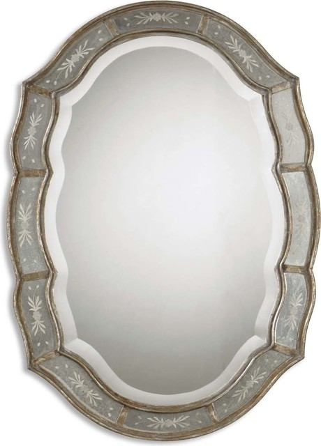 Uttermost Fifi Etched Antique Gold Mirror.