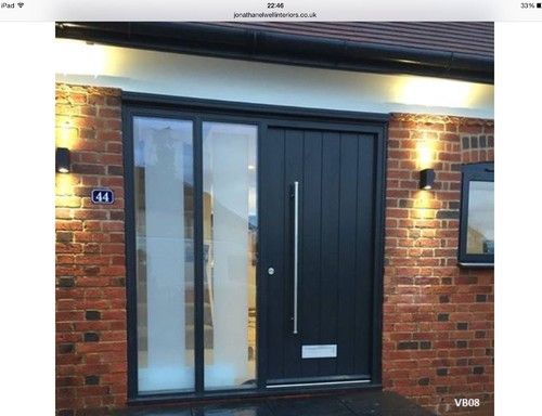 New Front Door With Side Panels