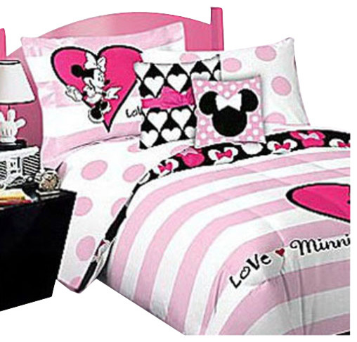Minnie Mouse Bed Sheet Set Love Bedding Accessories - Contemporary - Kids Bedding - by oBedding