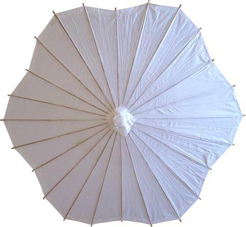 Wedding White Scalloped Parasol Paper Umbrella Asian Outdoor Umbrellas By Oriental Decor