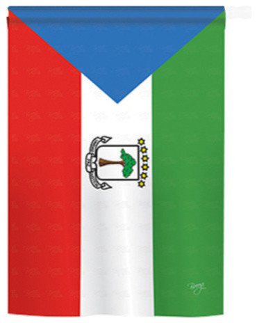 Equatorial Guinea 2 Sided Vertical Impression House Flag Contemporary Flags And Flagpoles By Breeze Decor