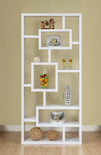 Enitial Lab Mateo Open Back Bookcase White Modern