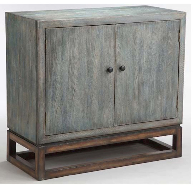 Stein World Gary Accent Cabinet, Hand Painted Gray