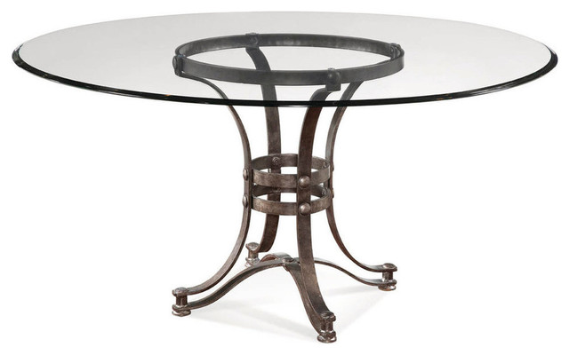 Tempe Round Glass Dining Table With Metal Base  : industrial dining tables from www.houzz.com size 640 x 400 jpeg 34kB