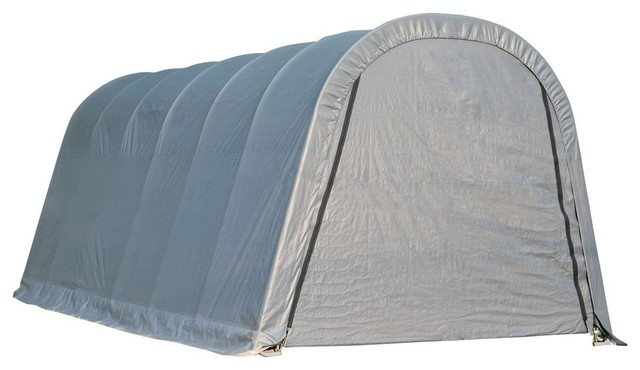 13&x27;x20&x27;x10&x27; Round Style Shelter, Gray Cover.