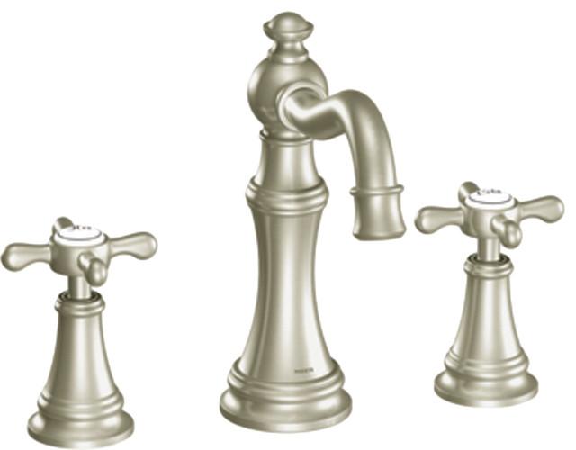 Moen TS42114BN Two Handle High Arc Bathroom Faucet Bathroom Sink Faucets