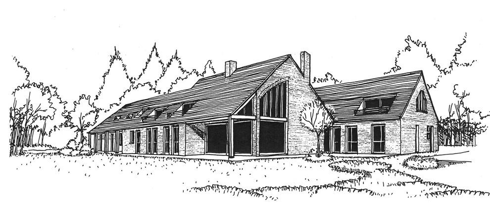 Réhabilitation Extension d'une maison en Sologne