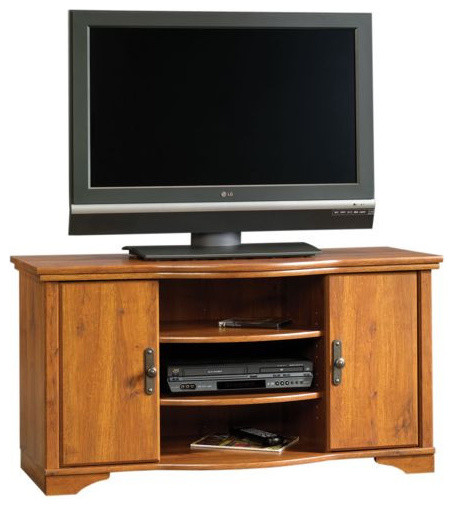 Sauder harvest mill entertainment credenza abbey oak traditional entertainment centers and - Sauder harvest mill home theater ...