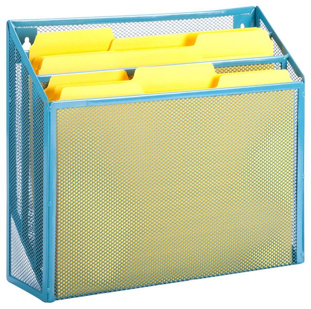 Vertical File Sorter, Blue.