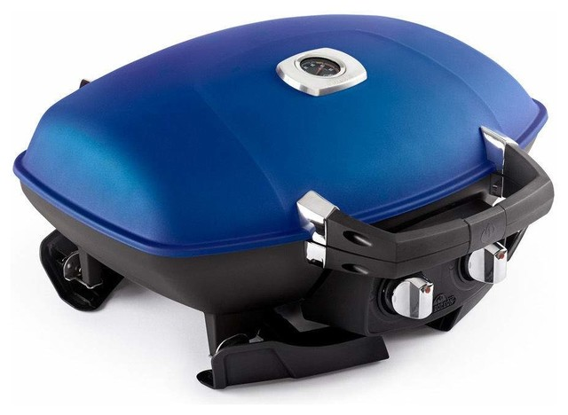 Travelq Portable Tabletop Grill, Blue, Propane Gas.