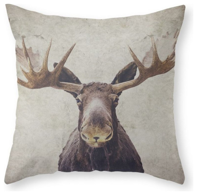 Decorative Moose Pillows : Moose Throw Pillow - Rustic - Decorative Pillows - by Society6
