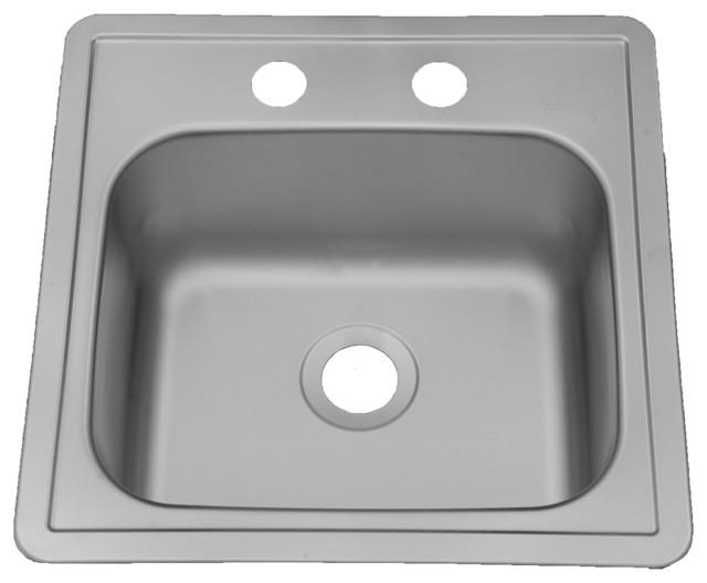 Americana &x27;georgian&x27; Stainless Steel Drop-In Small Single Bowl Sink.