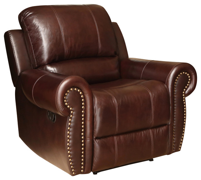 Fabulous Abbyson Living Lexington Recliner Chair Burgandy Machost Co Dining Chair Design Ideas Machostcouk