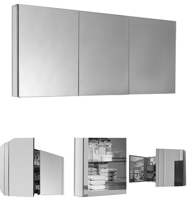 Fresca 60quot Wide Bathroom Medicine Cabinet Modern  : modern medicine cabinets from www.houzz.com size 606 x 640 jpeg 39kB