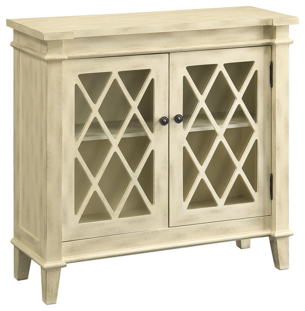 Coaster 950316 Accent Cabinet In Antique White Finish
