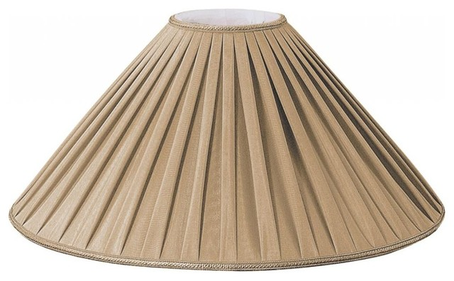 Pleated Coolie Designer Lampshade Antique Gold