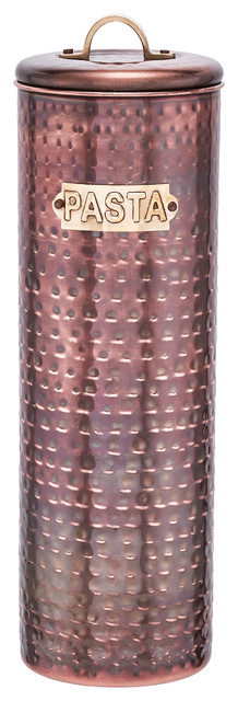 Hammered Antique Copper Pasta Canister, 12 H..
