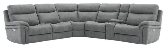 Parker Living Mason Carbon Modular 6-Piece Sectional Sofa