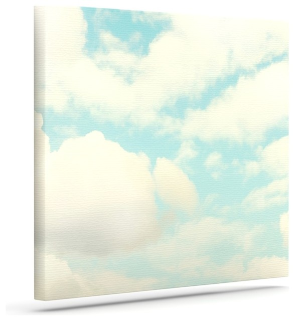 Modern Wall Decor For Patio : Sylvia cook quot clouds blue white wrapped art canvas x