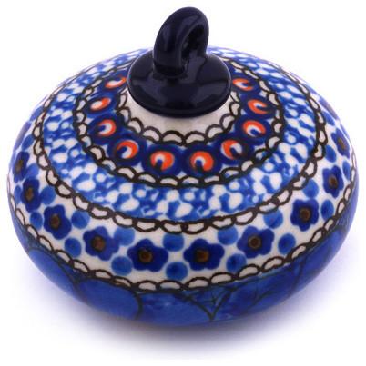 Polish Pottery 3 Stoneware Ornament Christmas Ball Hand Decorated Design