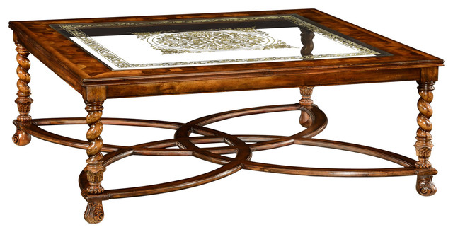 jonathan charles square oyster and eglomise coffee table 492225