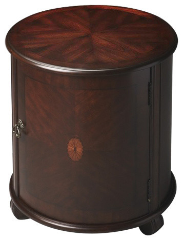 Butler Drum Table, Black Licorice, Plantation Cherry