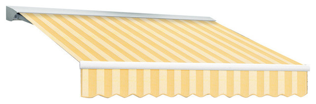 "8&x27; Key West Cassette Right Motor Retractable Awning, 84"" Projection, Almond."