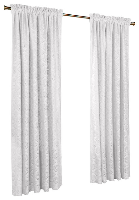 "Thermalace ""anna""pole Top Panels, Set Of 2, White, 104""x95""."