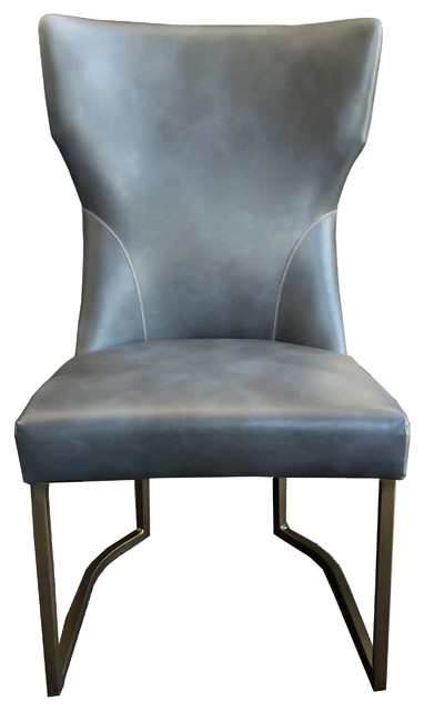 Cool Gray Leather Accent Dining Chair Rustic Bronze Frame Uwap Interior Chair Design Uwaporg