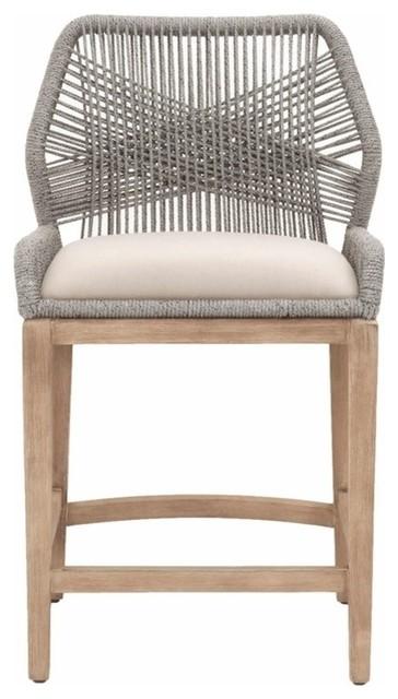 Loom Counter Stool, Platinum