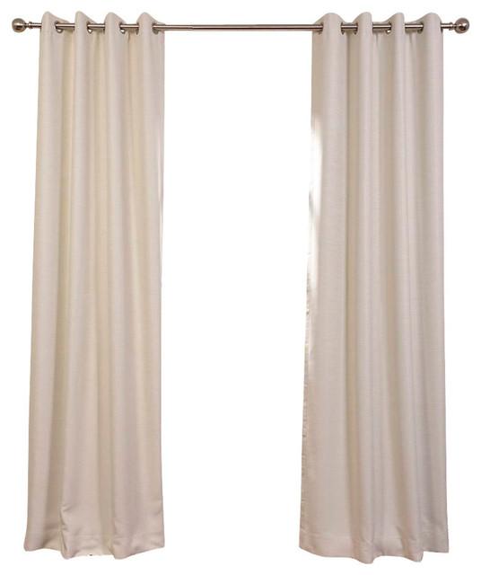 Cottage White Bellino Grommet Blackout Curtain Single Panel ...