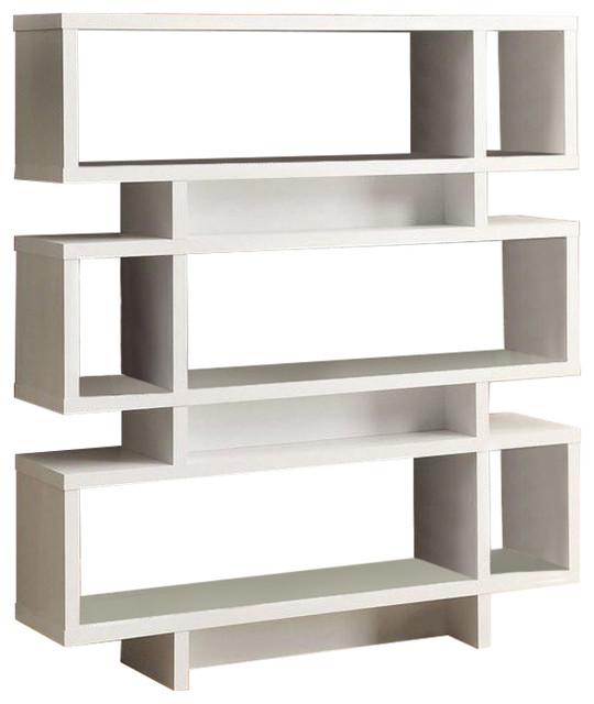 . White Modern Bookcase Bookshelf For Living Room Office Or Bedroom