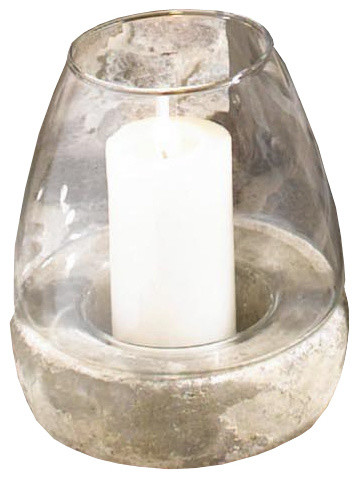 glass domed candle holder tall candle holder with stone base traditional