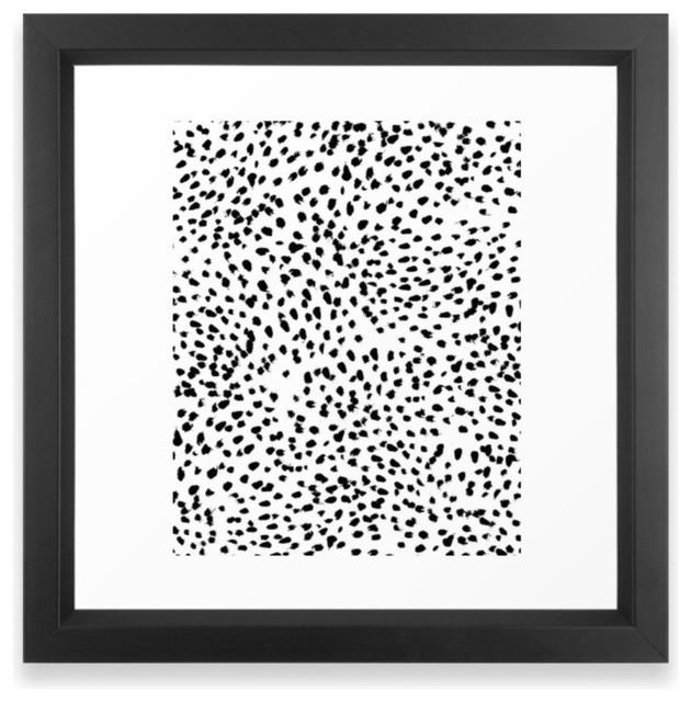 """Nadia, Black and White, Animal Print, Dalmatian Spot, Spots, Dots, BW"" Print contemporary-prints-and-posters"