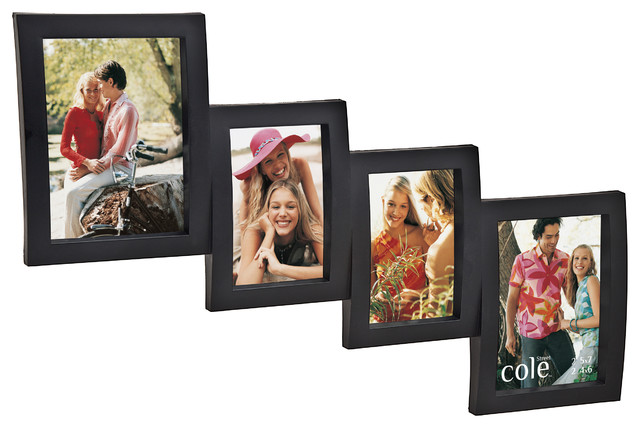 """4 Photo Open Molded Collage Frame, 4""""x6"""" And 5""""x7"""