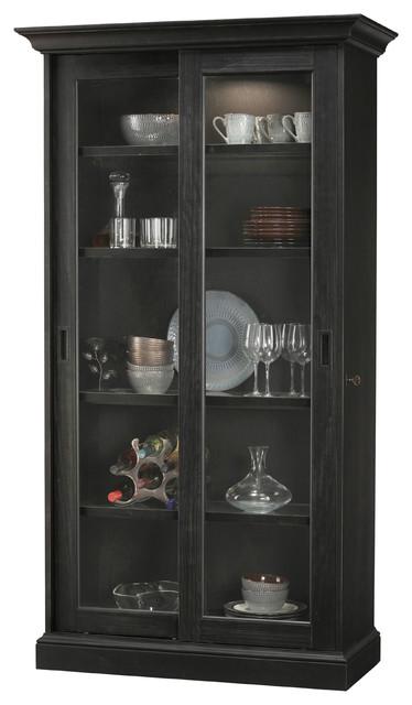 Meisha Iv Aged Black Curio Cabinet