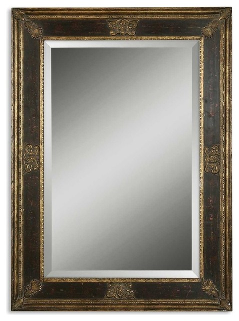 Uttermost Cadence Small Antique Gold Mirror.
