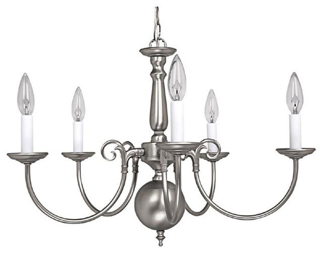 Capital Lighting 3125MN 5-Light Chandelier, Matte Nickel
