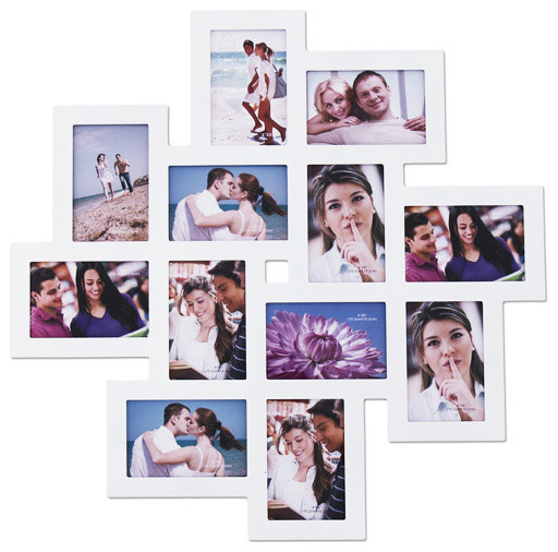 Adeco 12-Opening Collage Picture Frame - Contemporary - Picture ...