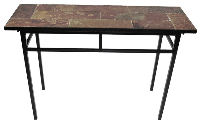 Delicieux Sofa Table With Slate Top, Metal