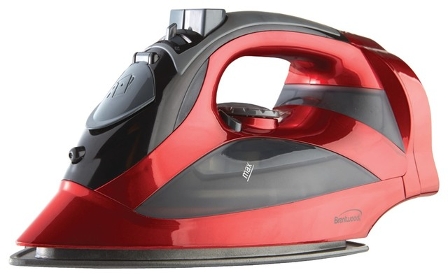 Brentwood Mpi-59r Red Steam Iron With Retractable Cord, Red.
