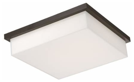 Modern Forms Ledge 1-Light LED Outdoor Flushmount Ceiling Fixture ...