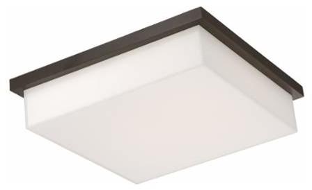 Modern Forms Ledge 1 Light LED Outdoor Flushmount Ceiling Fixture