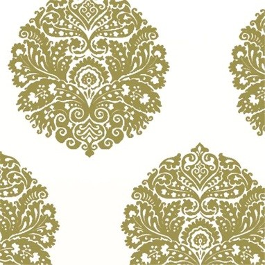 medallion wallpaper in apple eclectic wallpaper by